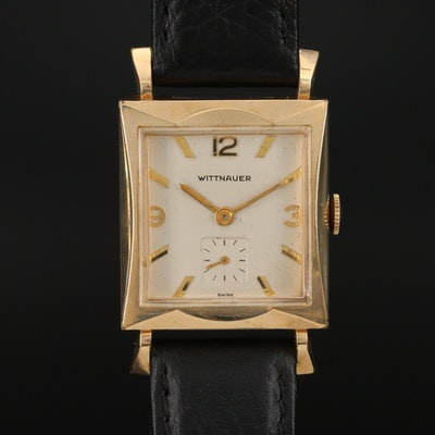 Vintage Wittnauer 10K Gold Filled Stem Wind Wristwatch