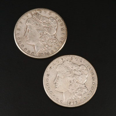 Better Date Lower Mintage 1902-S and 1904-S Morgan Silver Dollars