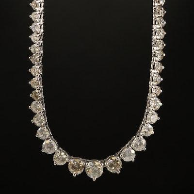 18K 13.71 CTW Diamond Graduated Rivière Necklace