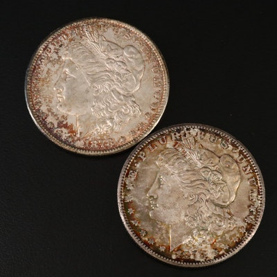 Toned 1878-S Morgan Silver Dollars