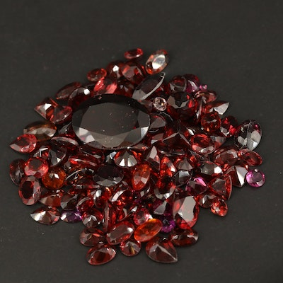 Loose 69.96 CTW Faceted Garnets
