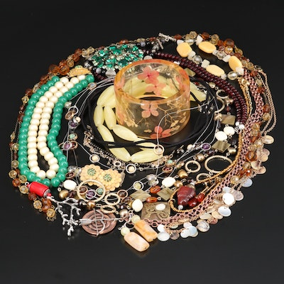 Jewelry Featuring Pearl, Red Jasper, Sterling and Coral