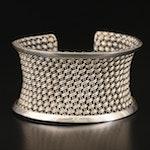 John Hardy Sterling Silver Basket Weave Mesh Cuff