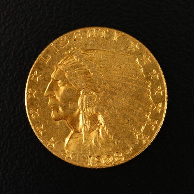 1928 Indian Head $2.50 Gold Quarter Eagle