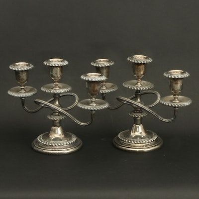 Friedman Silver Plate Candelabras, Early to Mid 20th Century