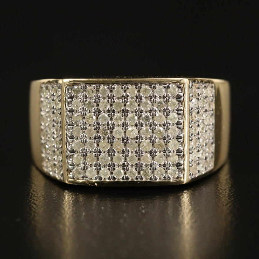 10K Diamond Tapered Band