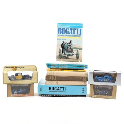 Matchbox and Bumm Bugatti Cars and Books