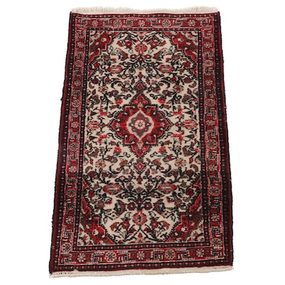 2'8 x 5'1 Hand-Knotted Persian Fereghan Wool Rug