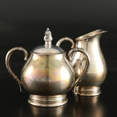 "International Silver ""Royal Danish"" Sterling Silver Creamer and Sugar Bowl"