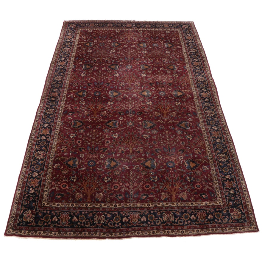 8'10 x 14'7 Hand-Knotted Persian Tabriz Room Size Rug, Early 20th Century