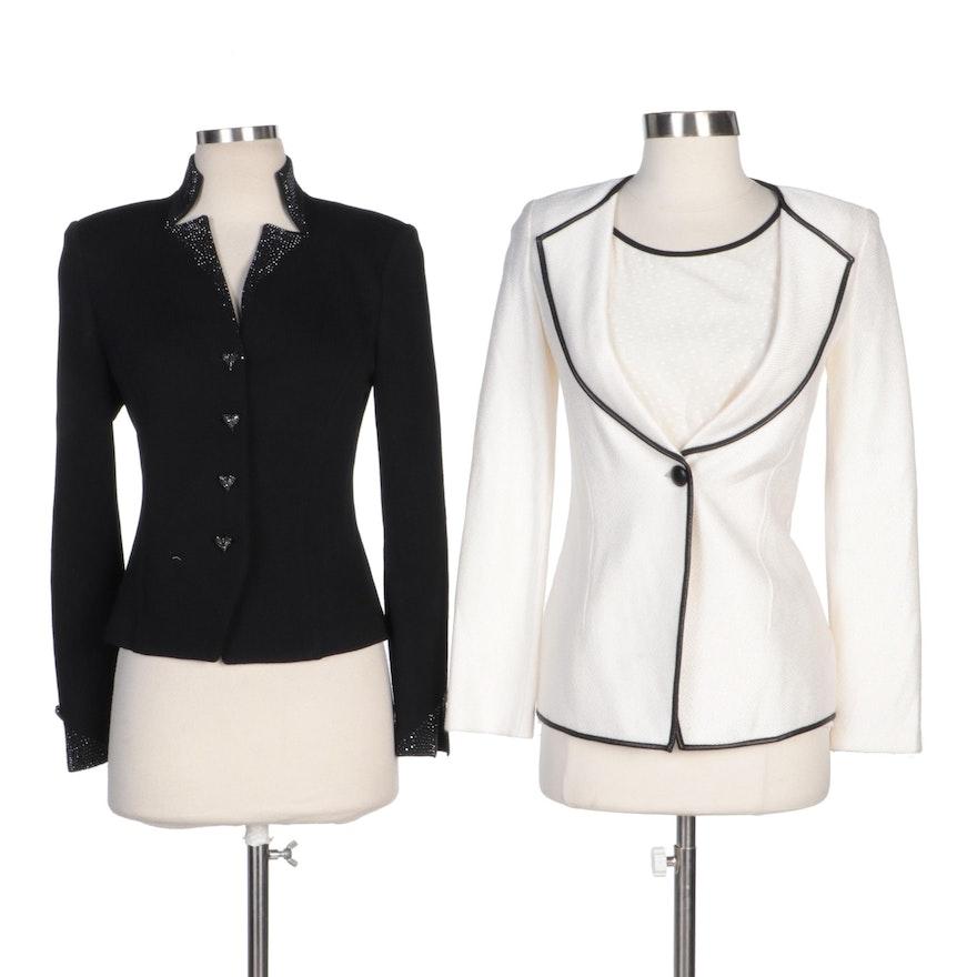 St. John Evening Embellished Knit Jacket and St. John Jacket and Sleeveless Top