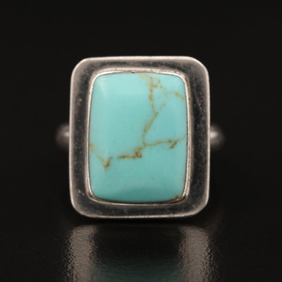 Sterling Faux Turquosie Ring