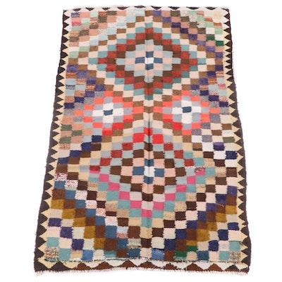 4'10 x 8'1 Handwoven Persian Kilim Wool Rug