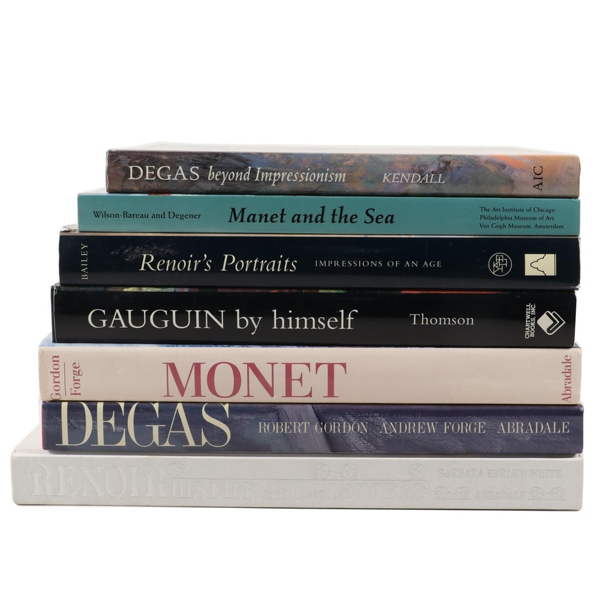 Art History and Reference Books on Degas, Monet, and More