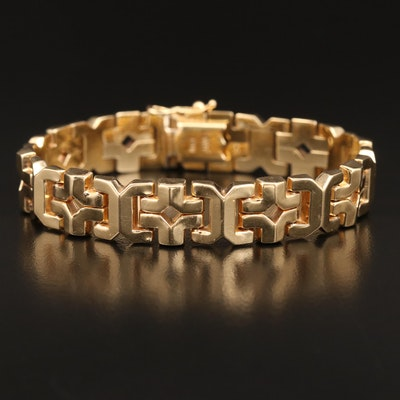 14K Geometric Link Bracelet