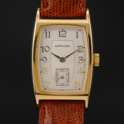 Hamilton 6172 Registered Edition Gold Tone Quartz Wristwatch
