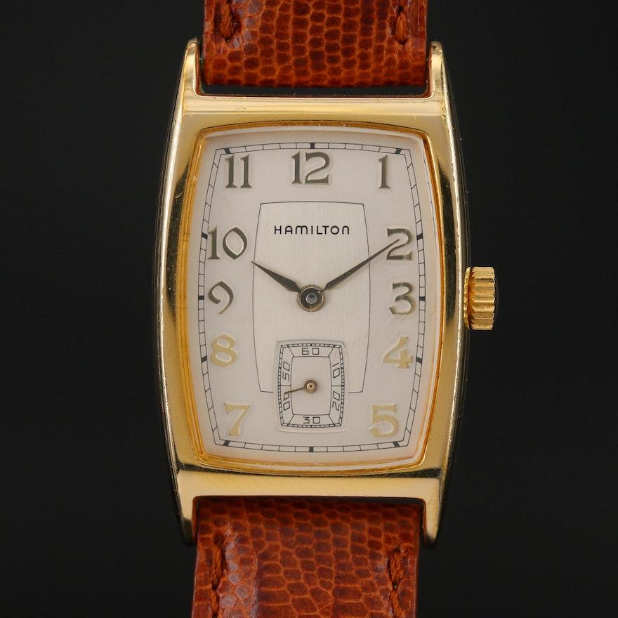 Hamilton 6172 Registered Edition Gold Tone Quartz Wristwatch