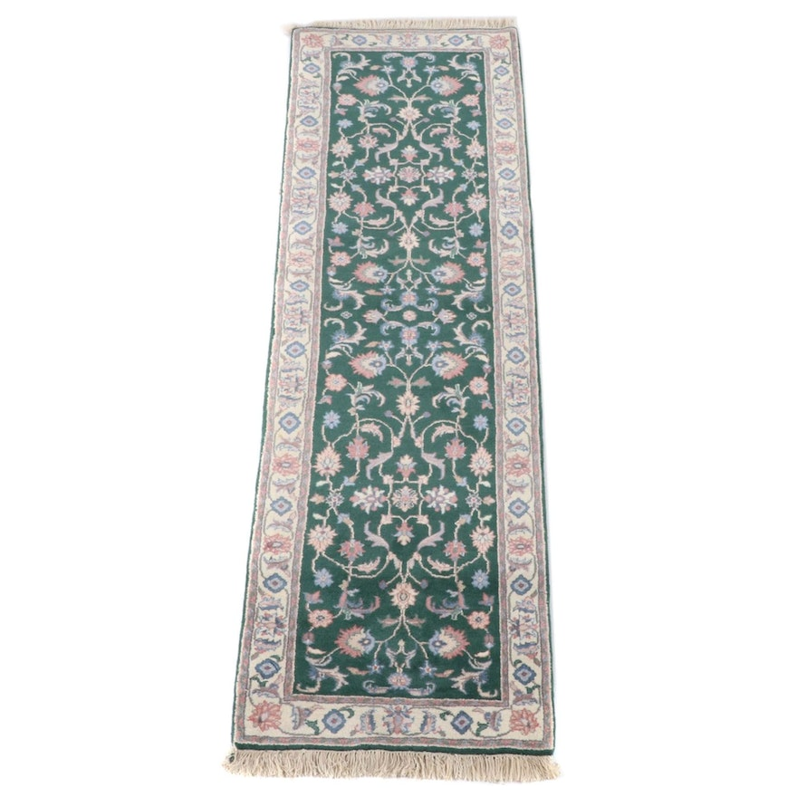 2'6 x 8'11 Hand-Knotted Indo-Persian Tabriz Carpet Runner