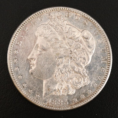 Better Date Lower Mintage 1885-S Morgan Silver Dollar