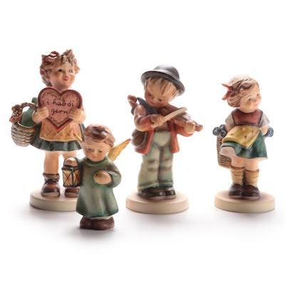 """Goebel """"Little Fiddler"""" and Other Porcelain Hummel Figurines, 1950–1970s"""
