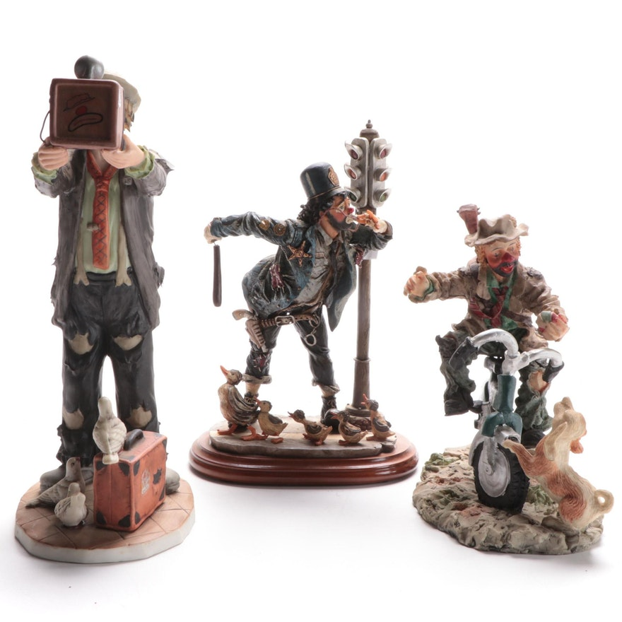 Flambre, Chuck Oberstein and Other Clown Figurine, Late 20th Century