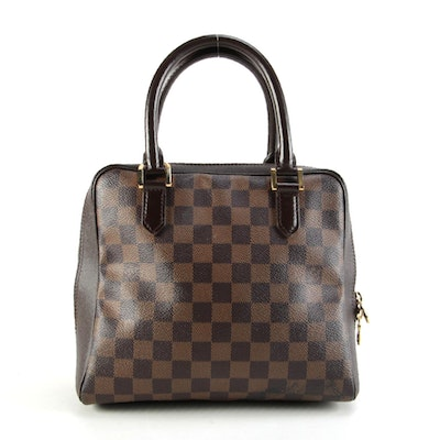 Louis Vuitton Brera in Damier Ebene Canvas and Smooth Leather