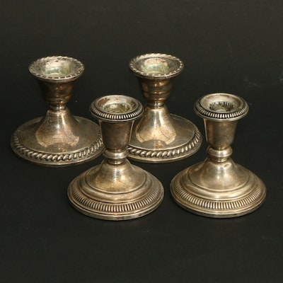 Frank M. Whiting and Other Weighted Sterling Silver Candle Holders