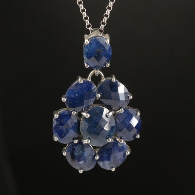 Sterling Corundum Pendant Necklace