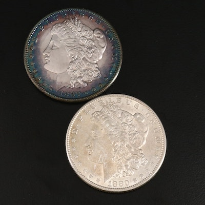 Better Date 1880-O and Toned 1897-S Morgan Silver Dollars
