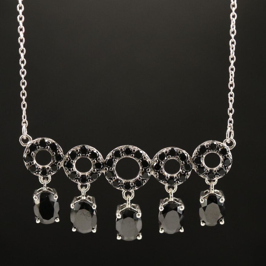 Sterling Silver Spinel Necklace
