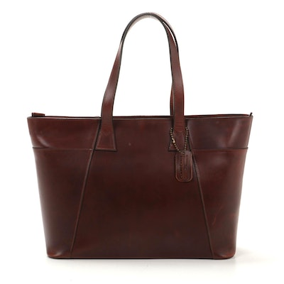 Claire Chase Zip Tote in Whiskey Brown Leather
