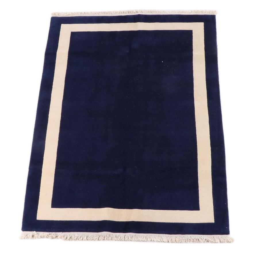 5'1 x 7'5 Hand-Knotted Tibetan Wool Rug