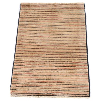 3'1 x 4'9 Hand-Knotted Afghan Gabbeh Wool Rug