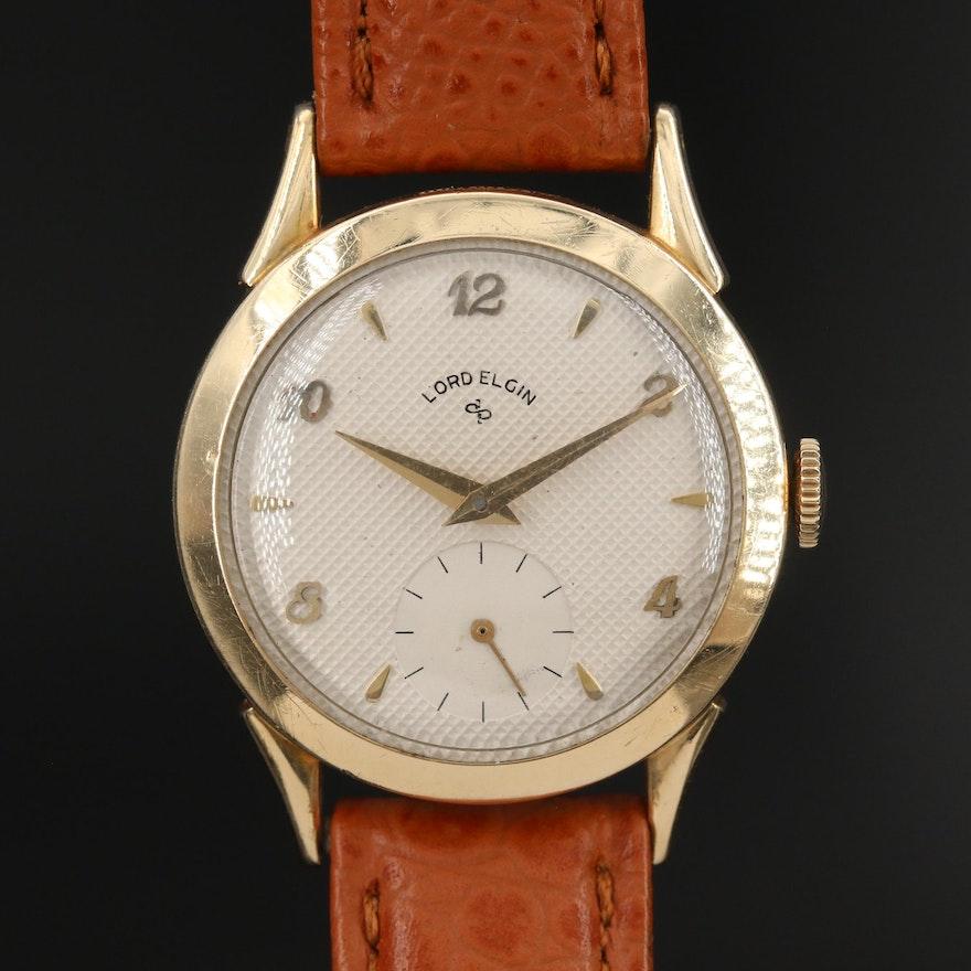 Lord Elgin 14K Gold Filled Stem Wind Wristwatch
