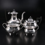 English Georgian Style Sheffield Tea and Coffee Set, Mid-20th Century