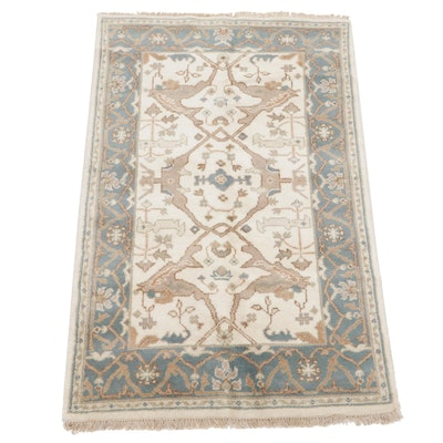 3'11 x 6'4 Hand-Knotted Indo-Persian Tabriz Area Rug