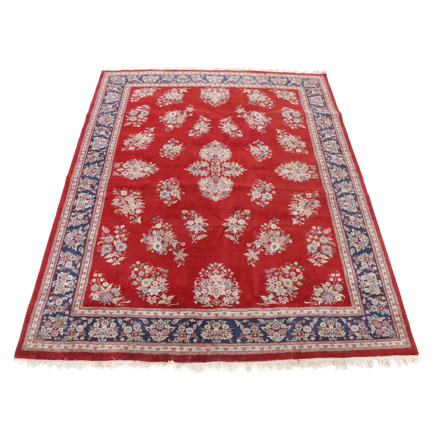 8'10 x 11'9 Hand-Knotted Indo-Persian Floral Room Size Rug