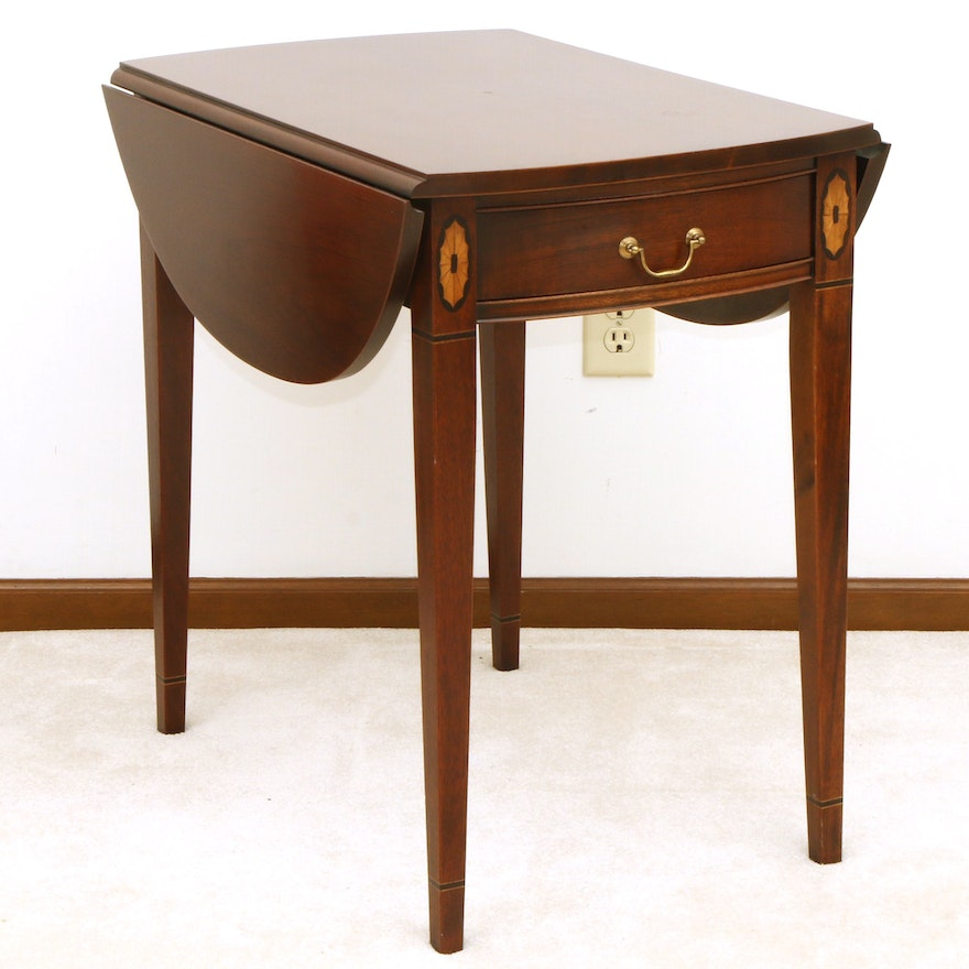 """Hickory Chair Co. """"James River Plantation"""" Paterae-Inlaid Pembroke Table"""