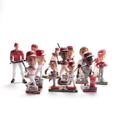 Cincinnati Reds Stadium Bobblehead Dolls and Statues in Boxes, 2000s