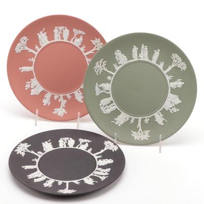 "Wedgwood ""Sacrifice"" Jasperware Cake Plates"