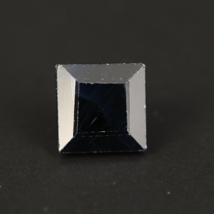 Loose 4.18 CT Square Faceted Sapphire