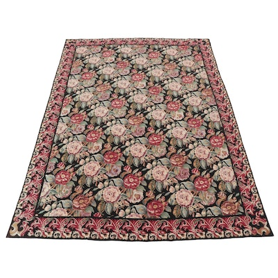 8'5 x 11'6 Handmade Sino-French Floral Room Size Needlepoint Rug