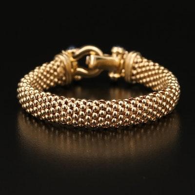 14K Sapphire and Diamond Mesh Bracelet