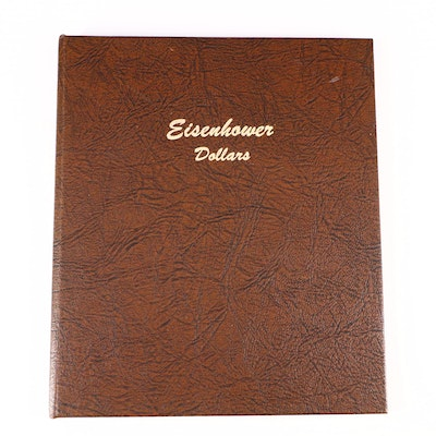 Whitman Binder of Eisenhower Dollars Including Silver 1974-S