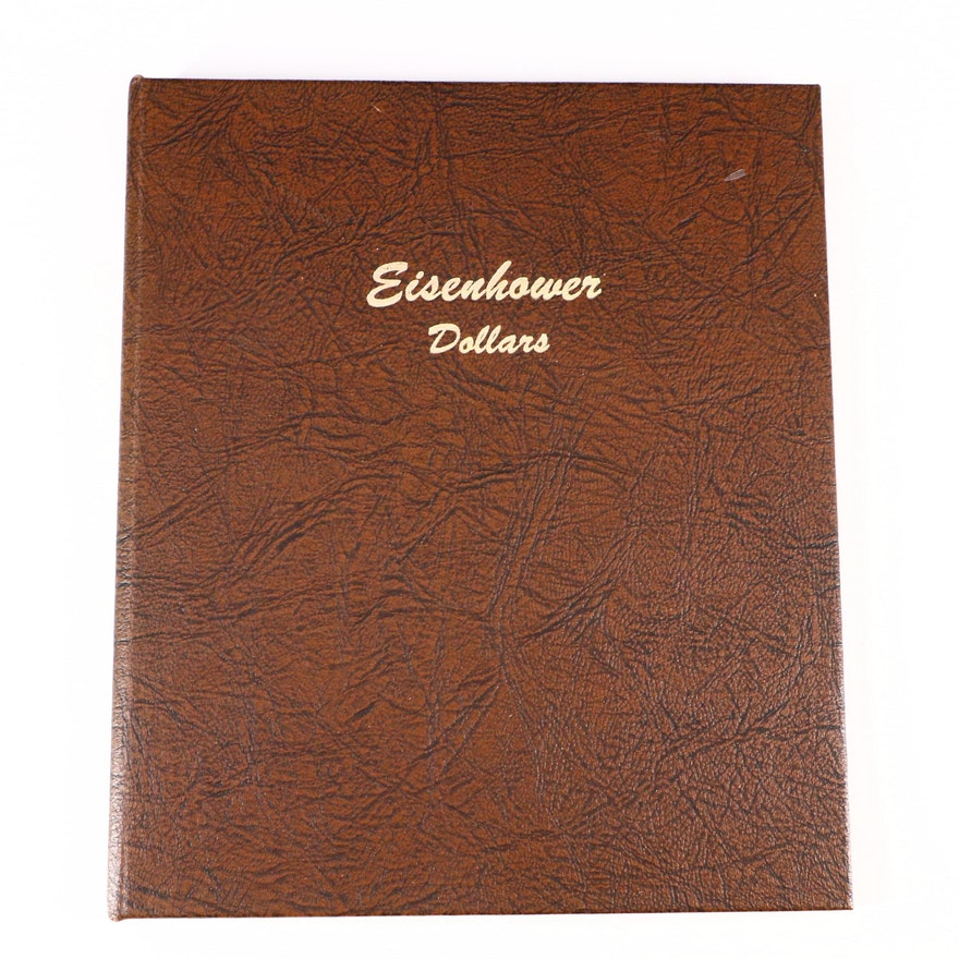 Whitman Binder of Eisenhower Dollars Including Silver 1974-S