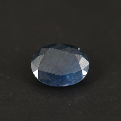 Loose 1.63 CT Oval Faceted Sapphire