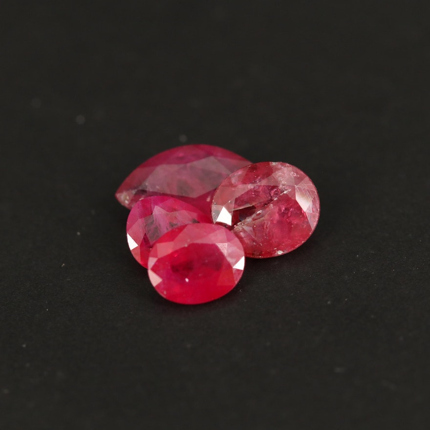 Loose 1.77 CTW Faceted Rubies
