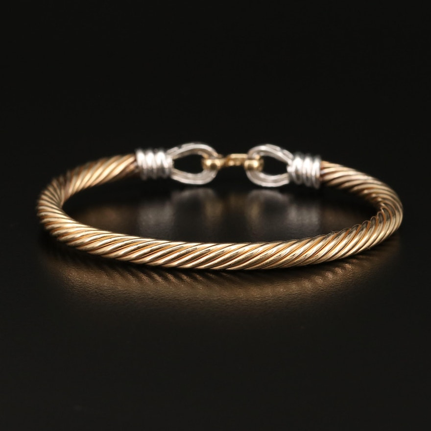 14K Diamond Cable Bracelet