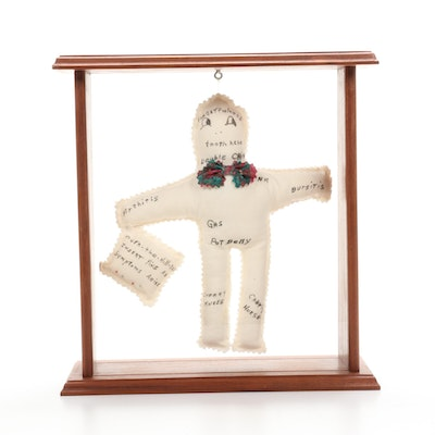 "Pinpoint ""Over-The-Hill"" Symptoms Comedic Voodoo Doll"