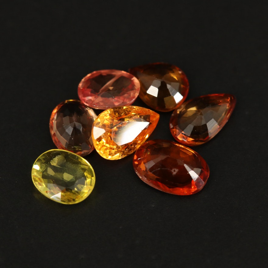 Loose 3.07 CTW Faceted Mixed Color Sapphires